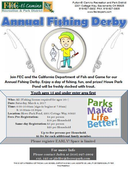 Annual Trout Fishing Derby presented by Fulton-El Camino