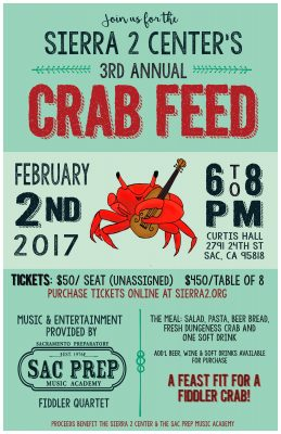 3rd Annual Sierra 2 Center Crab Feed and Dessert Auction