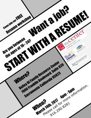 valley hi family resource center resume workshop