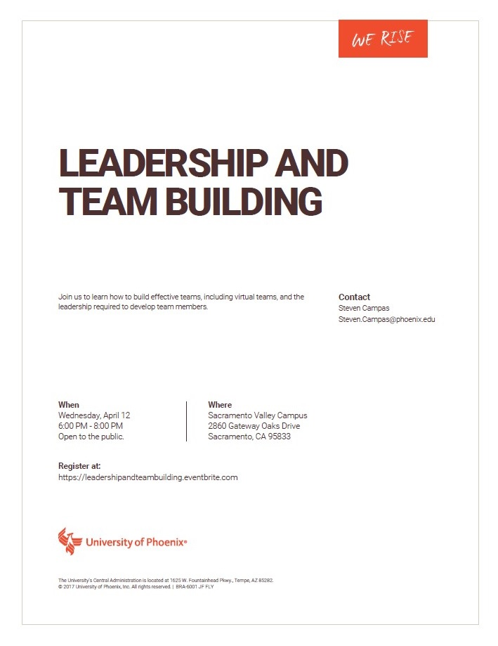 Leadership And Team Building Presented By University Of Phoenix