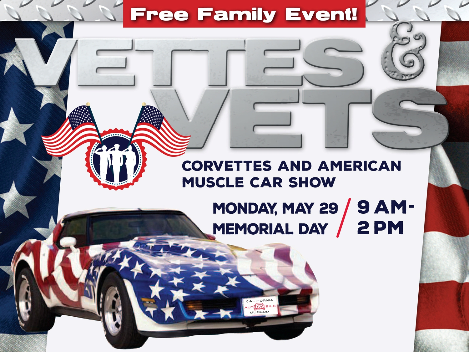 Th Annual Vettes And Vets And American Muscle Car Show Presented By - American muscle car show