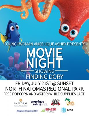 Movies in the Park Showing: Finding Dory