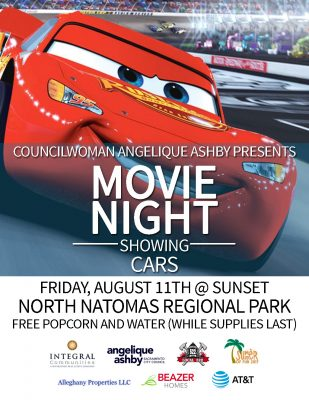 Summer Sunset Party and Movie in the Park: Cars