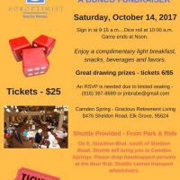 Soroptimist of Elk Grove Bunco Fundraiser