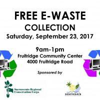E-Waste Collection: Fruitridge Community Center