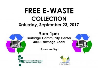 E-Waste Collection: Fruitridge Community Center