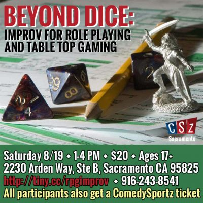 Beyond Dice: Improv For Role Playing And Table Top...