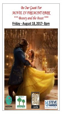 Movie in Fremont Park: Beauty and the Beast