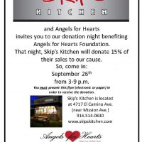 Angels for Hearts Fundraiser at Skip's Kitchen