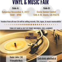 Armadillo Music and KDVS 90.3FM Vinyl and Music Fair