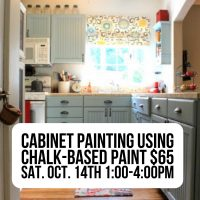 Cabinet Painting Using Chalk-Based Paint