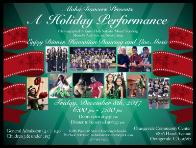 Aloha Dancers Holiday Performance