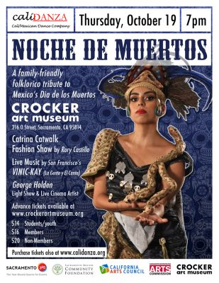 Noche de Muertos: Calidanza Dance, Rory Castillo Catrinas, and George Holden Light Show