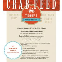 Boy Scout Troop One's Annual Crab Feed