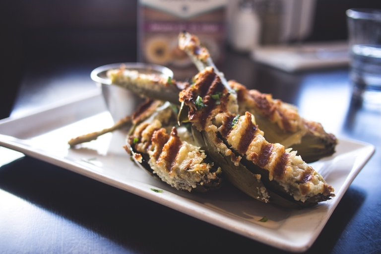 Grilled Artichoke. Photo by Lisa Nottingham.