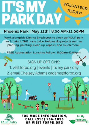 It's My Park Day presented by Fair Oaks Recreation and Park