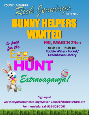 District 7 Egg Hunt Prep Party