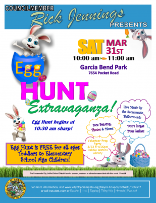 District 7 Egg Hunt Extravaganza (Garcia Bend Park...