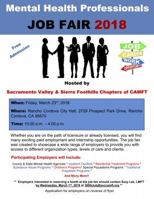 Mental Health Professionals Job Fair 2018