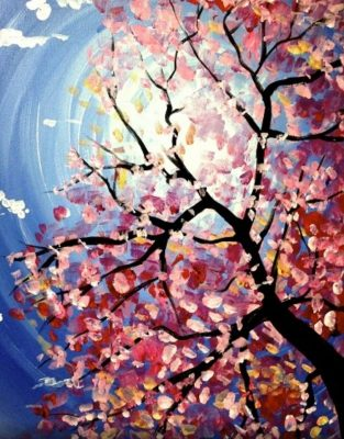 Spring Blossoms Paint Nite Party