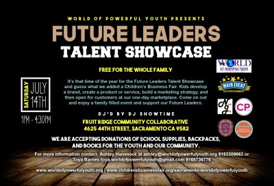 Future Leaders Talent Showcase and Children's Bu...