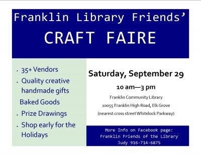 Franklin Friends Craft Faire
