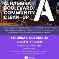 Alhambra Boulevard Community Clean-Up