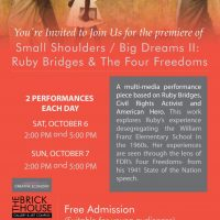 Small Shoulders/Big Dreams II: Ruby Bridges and The Four Freedoms