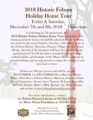 2018 Historic Folsom Holiday Home Tour