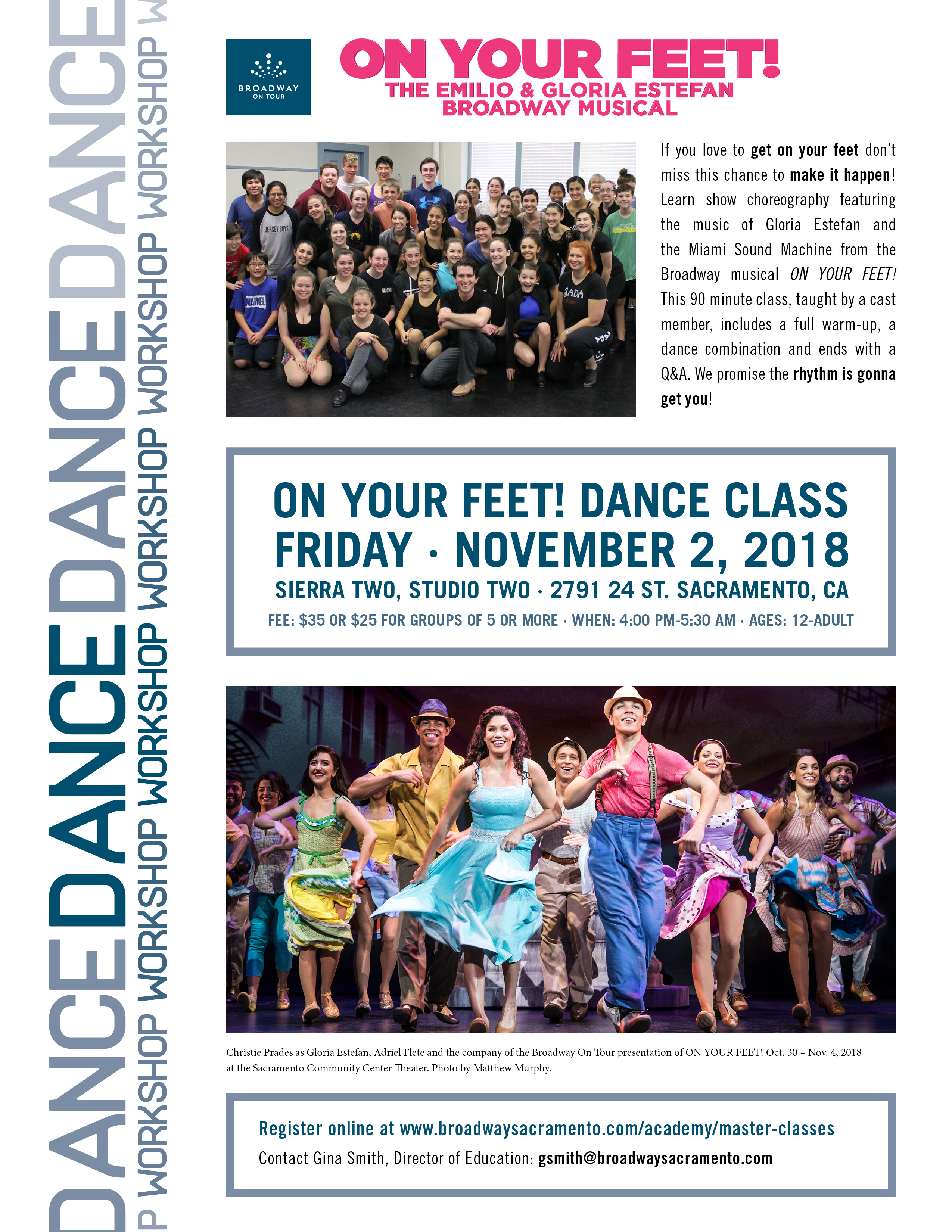 bff1844d844 On Your Feet Dance Class presented by Broadway Sacramento ...