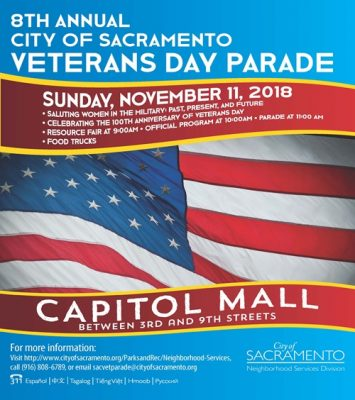 Sacramento Veterans Day Parade (Cancelled)