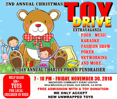 Christmas Toy Drive and Charity Poker Fundraiser