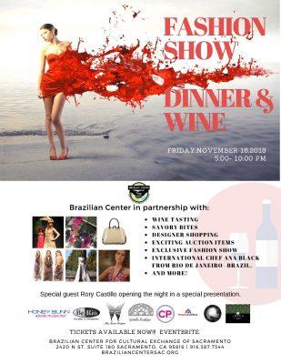 Brazilian Center Fashion Show, Dinner, and Wine Event