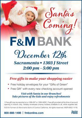Santa's Coming to F&M Bank