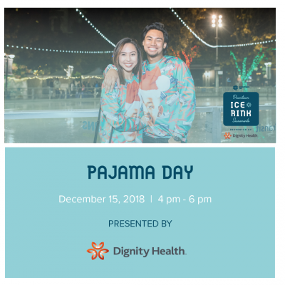 Pajama Day at the Downtown Sacramento Ice Rink