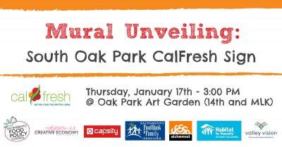 Oak Park CalFresh Sign Mural Unveiling