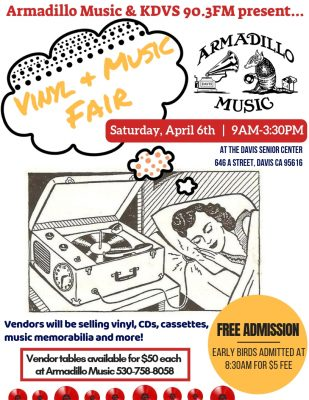 Armadillo Music and KDVS's Vinyl and Music Fair