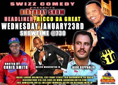 Swizz Comedy presents Rico Da Great