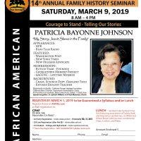 14th Annual African-American Genealogy Seminar