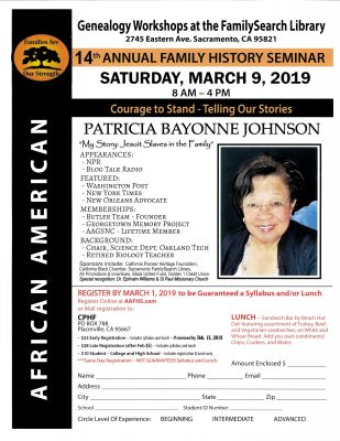14th Annual African-American Genealogy Seminar