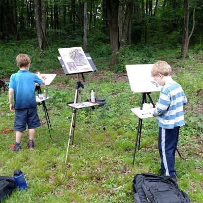 En Plein Air Painting at the Koobs Nature Area