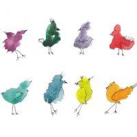 Watercolor Doodle Birds and Flowers Workshop