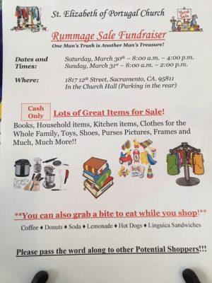 Rummage Sale Fundraiser presented by St  Elizabeth Church
