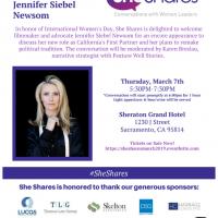 She Shares: A Conversation With First Partner Jennifer Siebel Newsom