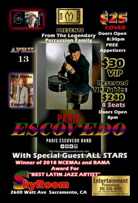 Paris Escovedo presented by ELM Promotions and Entertainment