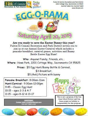 Egg-O-Rama and Pancake Breakfast