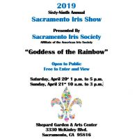 Sacramento Iris Society Plant Show and Sale