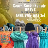 Be Warm Project: Scarf, Sock, and Hat Drive