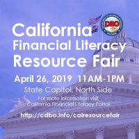 California Financial Literacy Resource Fair 2019