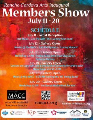 Rancho Cordova Arts Inaugural Members Show